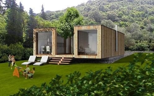 Casa modulare unifamiliare case modulari moderne case modulari - Casa modulare prefabbricata ...