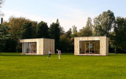 Moderna casa modulare padiglione case modulari for Piccole case moderne
